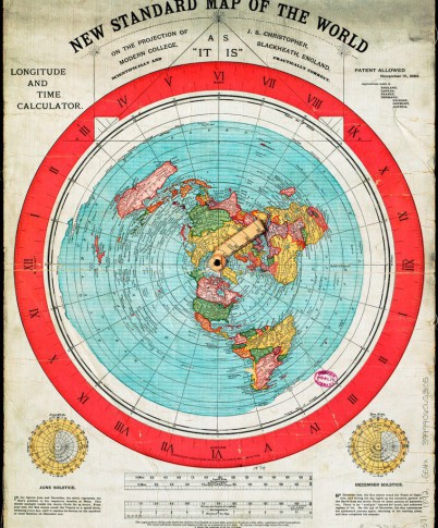 Flat earth flat earth world maps poster prints alexander gleason map 1892 gumiabroncs Image collections